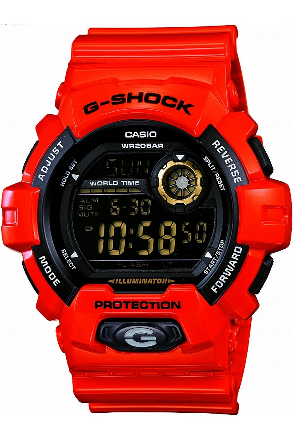casio red watches