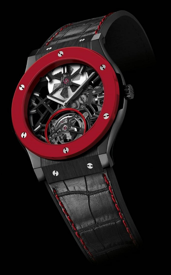 red hublot watches