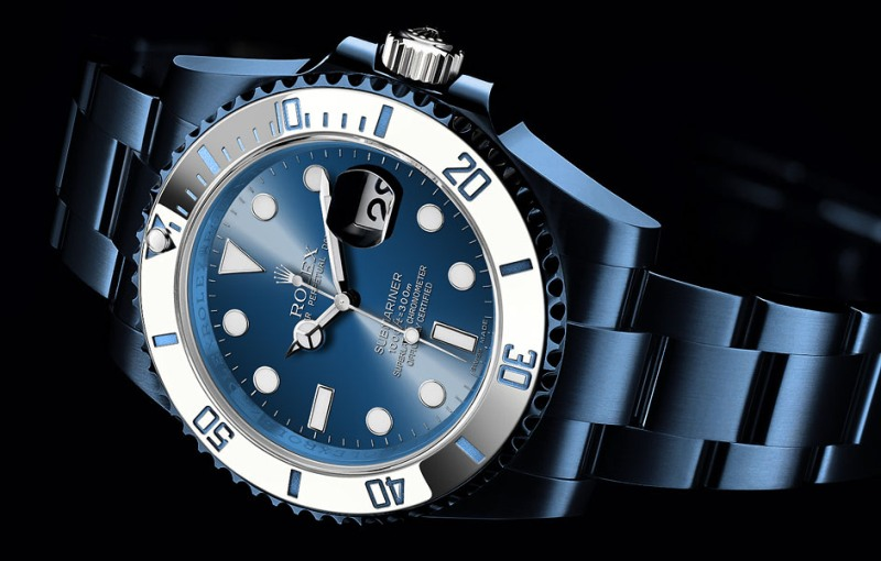 blue Rolex watch 2016