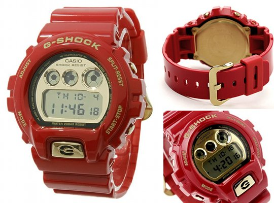 2016 casio GShock Watches red